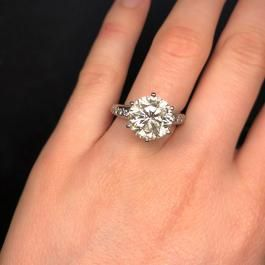 5 Carat Round Diamond Engagement Ring I Do Now I Don T Round Diamond Engagement Rings Diamond Engagement Rings Pendant Rings