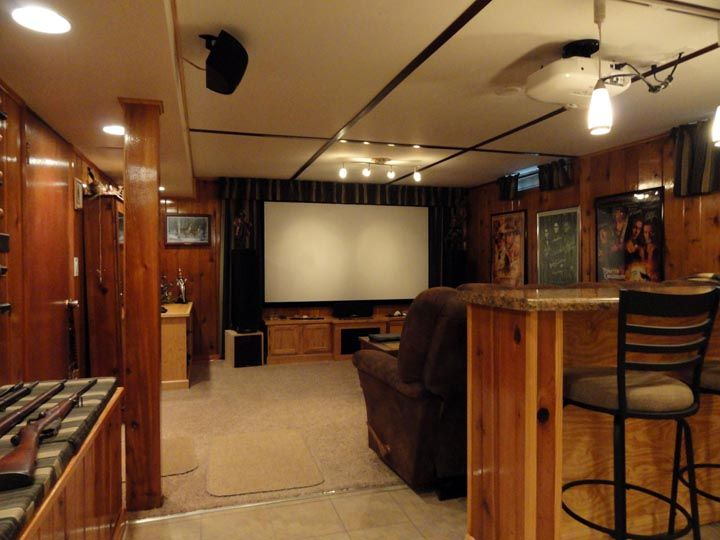 Epson Home Cinema 1080 and Custom screen home theater