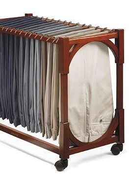 Handsomely store and organize your husband's pants for easy access with the Heritage Pants Rack .