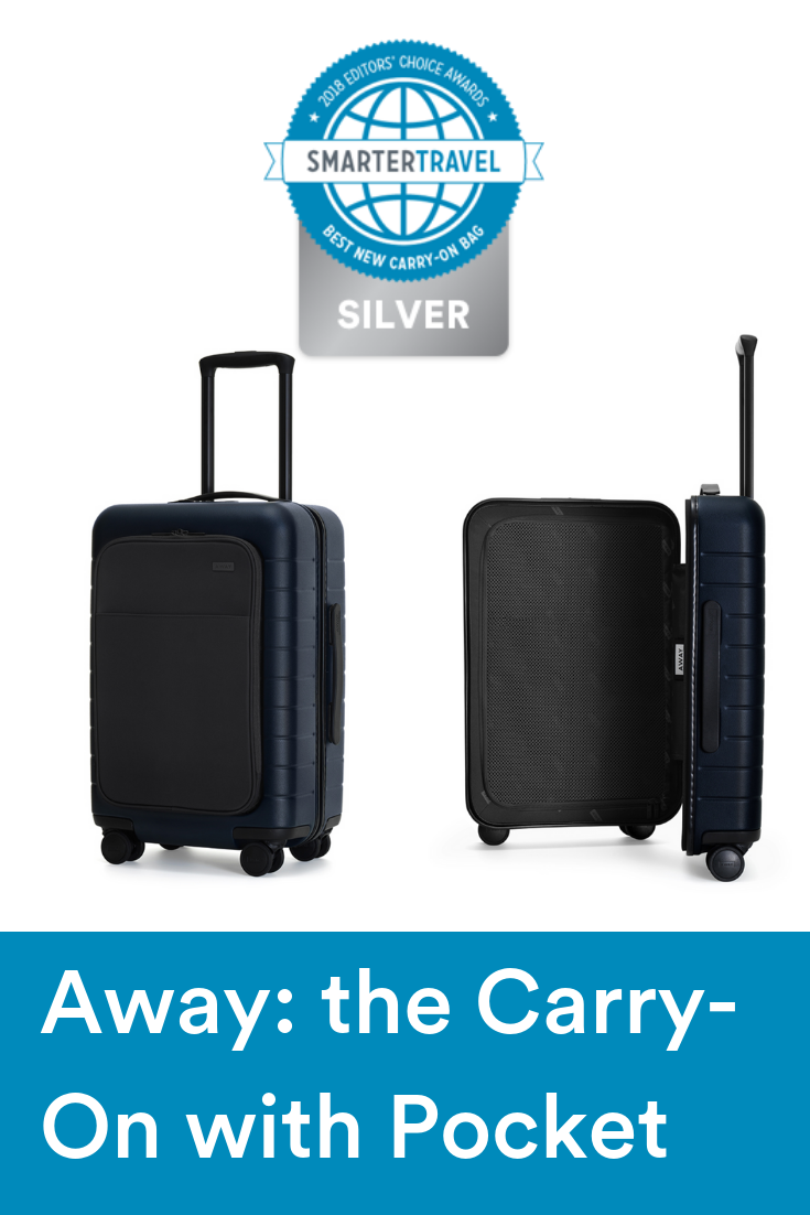 8739e7d6a ... Editors' Choice Awards 2018 by SmarterTravel. The much-hyped Away Carry-On  with Pocket is worth the fanfare.