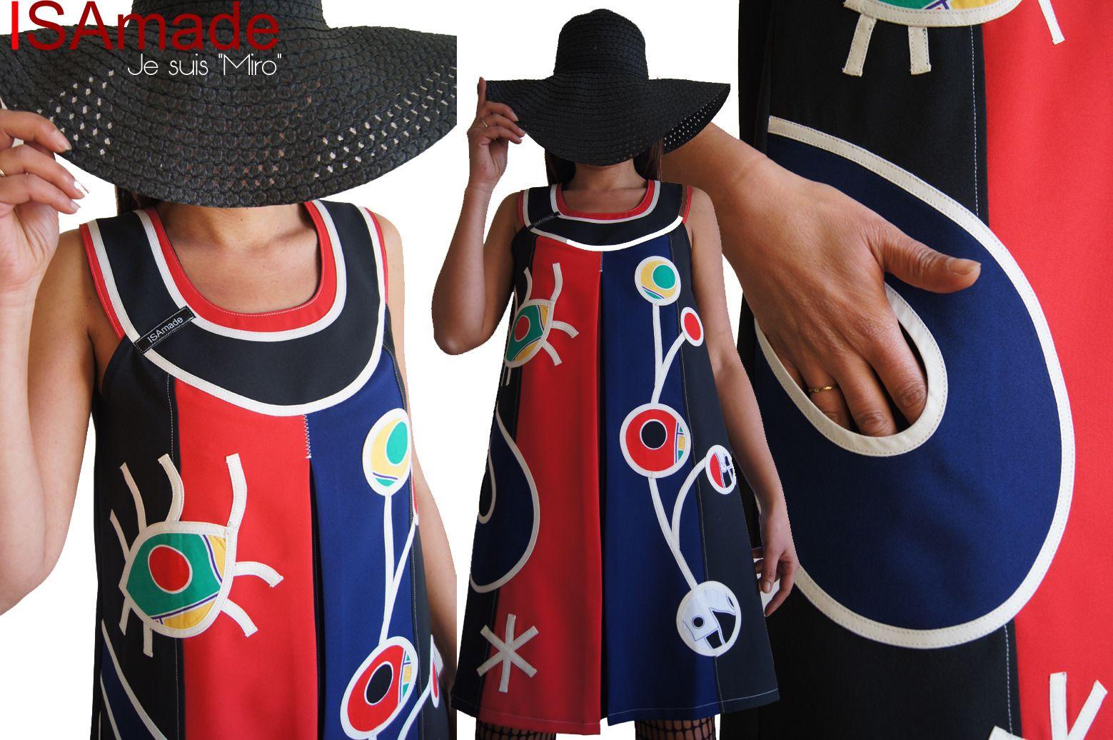 robe trap ze rouge bleu lectrique noire tendance femme. Black Bedroom Furniture Sets. Home Design Ideas