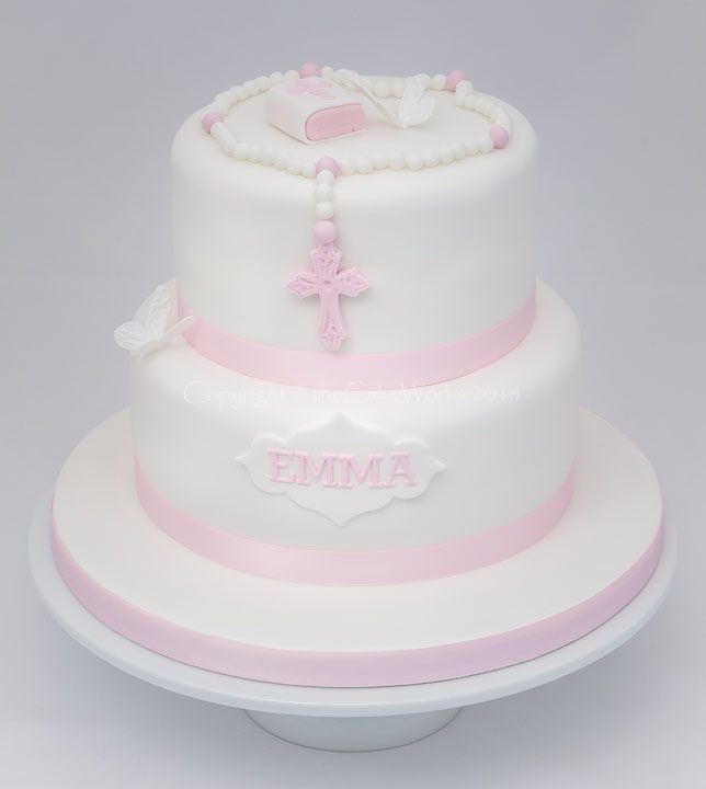 Cake Designs For Baby Dedication : A selection of modern and traditional Christening cakes ...
