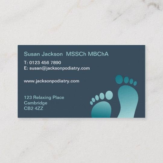 Chiropody Business Card Zazzle Com In 2021 Cards Business Cards Business