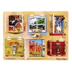 Melissa & Doug latching puzzle--I think little man will be into this soon...must find one!