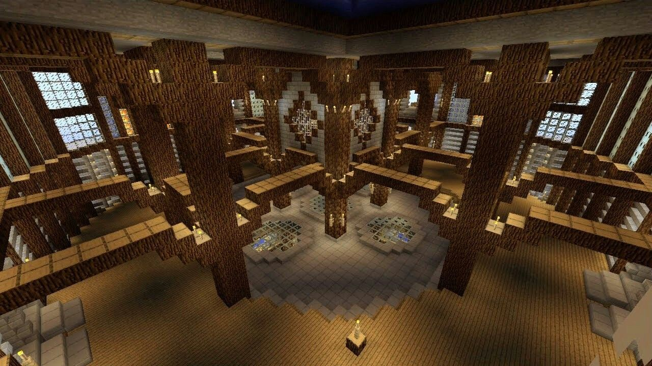 Castle Interior Great For A Library Minecraft Designs