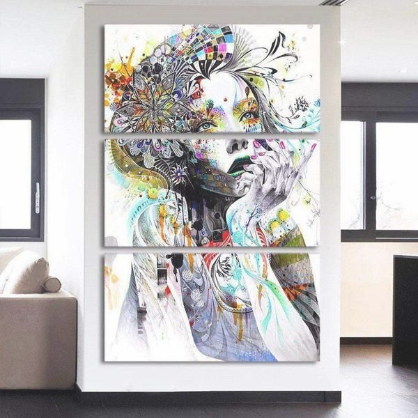 Barbouille Novateur De La Deesse Des Fleurs Tableaux Modernes En 2020 Tableau Deco Salon Tableau Decoratif Tableaux Modernes