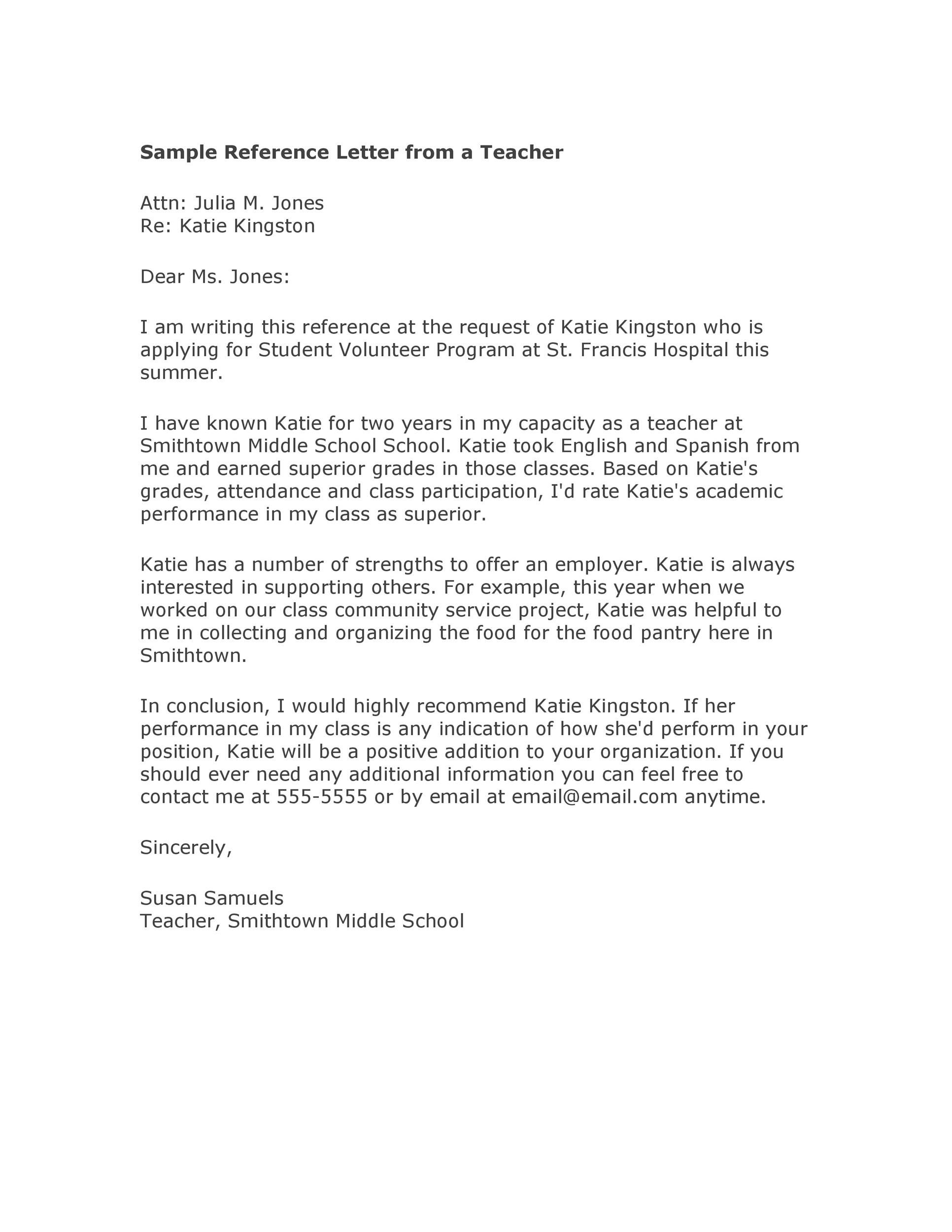 Recommendation Letter Template For Student from i.pinimg.com