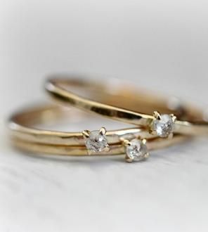 Gold Petite Diamond Ring