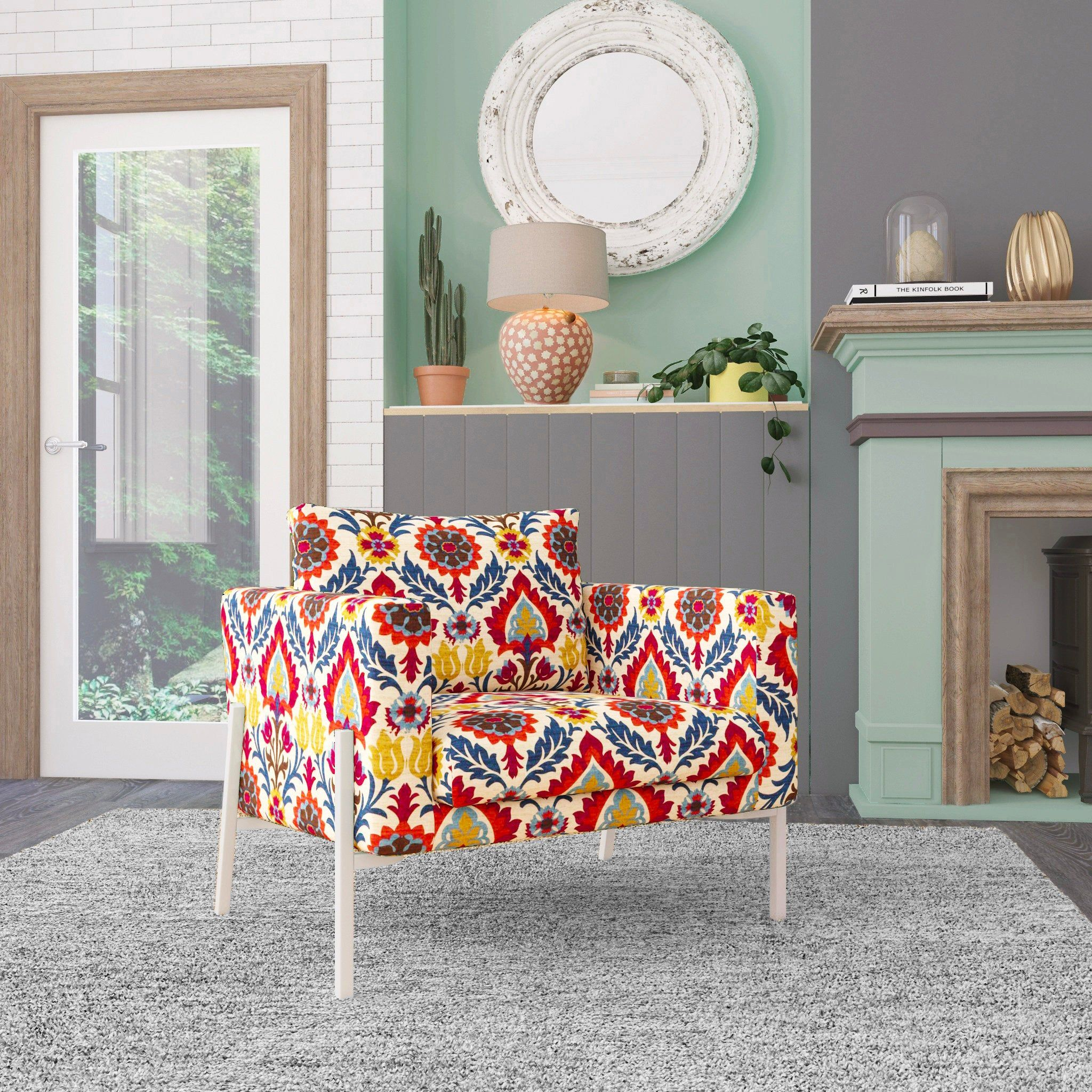 Ikea Koarp Armchair Covers Jewel Tones Colorful Floral Chair