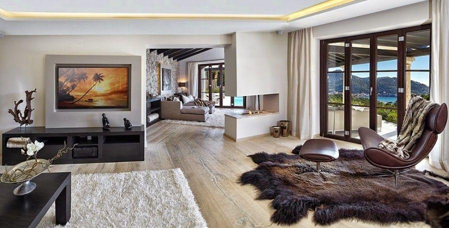 salon, styl nowoczesny, luksusowy salon, willa Salony - villa wohnzimmer modern