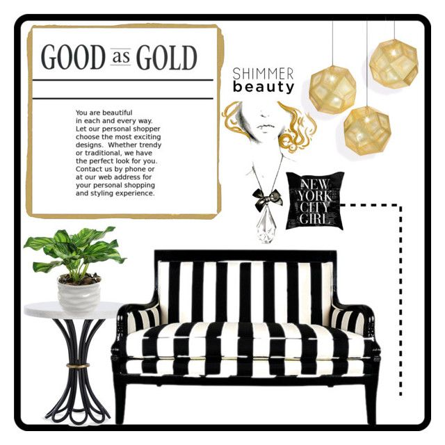 """Good As Gold"" by doragutierrez ❤ liked on Polyvore featuring interior, interiors, interior design, home, home decor, interior decorating, Tom Dixon and Arteriors"