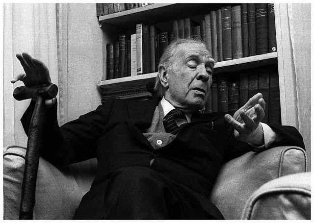 Borges todo el año: Jorge Luis Borges: Arpías - Retrato de Jorge Luis Borges por Brenno Quaretti