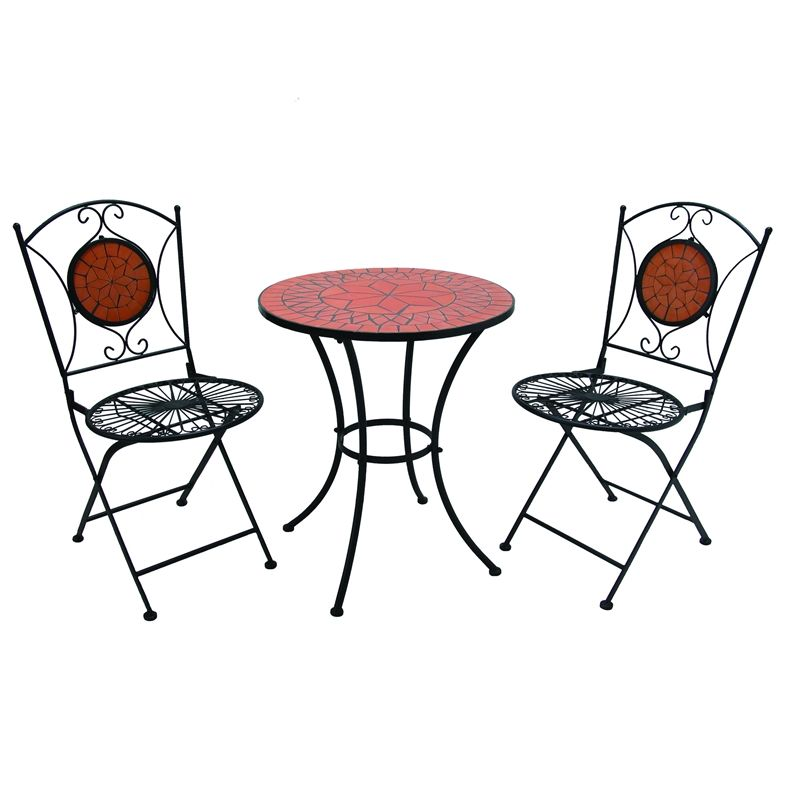 Mimosa 3 Piece Mosaic Terracotta Bistro Setting This Would Look Great On The Side Of