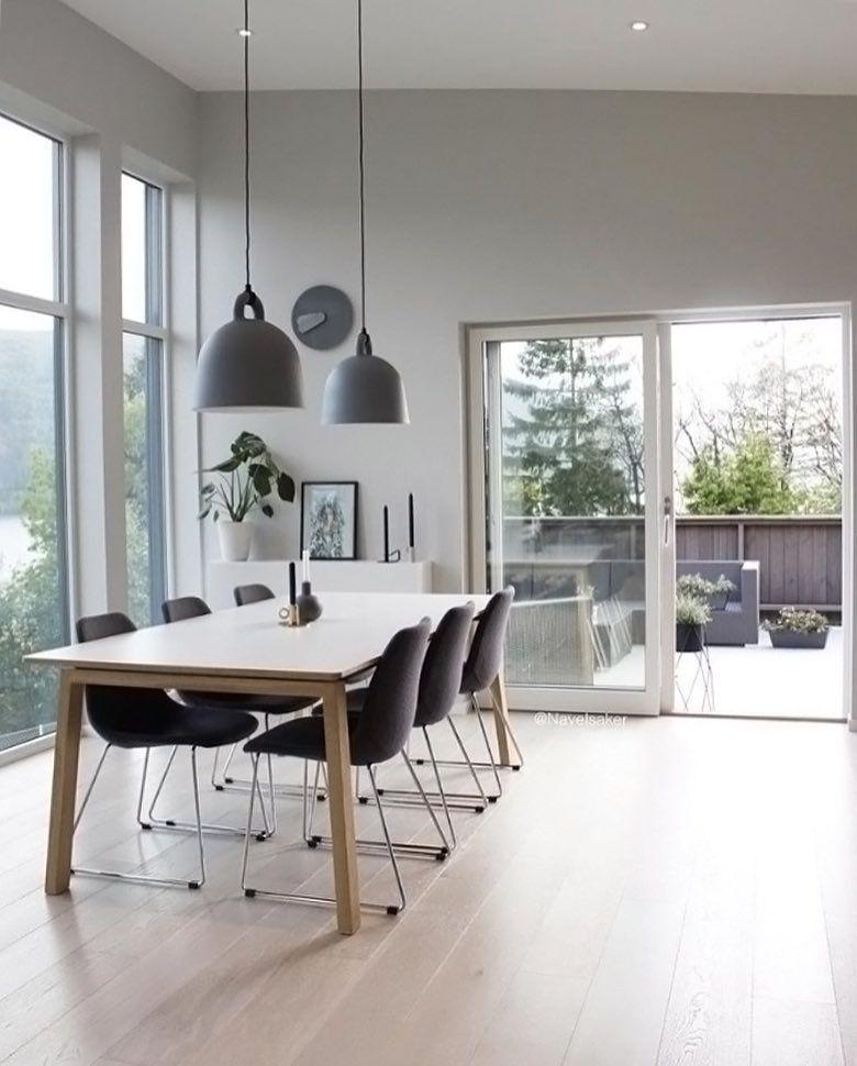 Dining Room By At Navelsaker Normann Copenhagen Bell Lamp Wohnidee