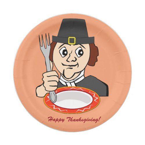 Custom Orange Thanksgiving Paper Plates Pilgrim  sc 1 st  Pinterest & Custom Orange Thanksgiving Paper Plates Pilgrim | Thanksgiving ...