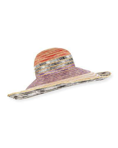 8d20e5e6cef20c Missoni Woven Straw Sun Hat | Products in 2019 | Sun hats, Hats, Missoni