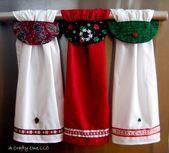 Christmas Hanging Kitchen Towel Christmas Kitchen Towels Holiday Dish Towel Pinecone Kitchen Towel Dog Paw Towel Merry Christmas Towel