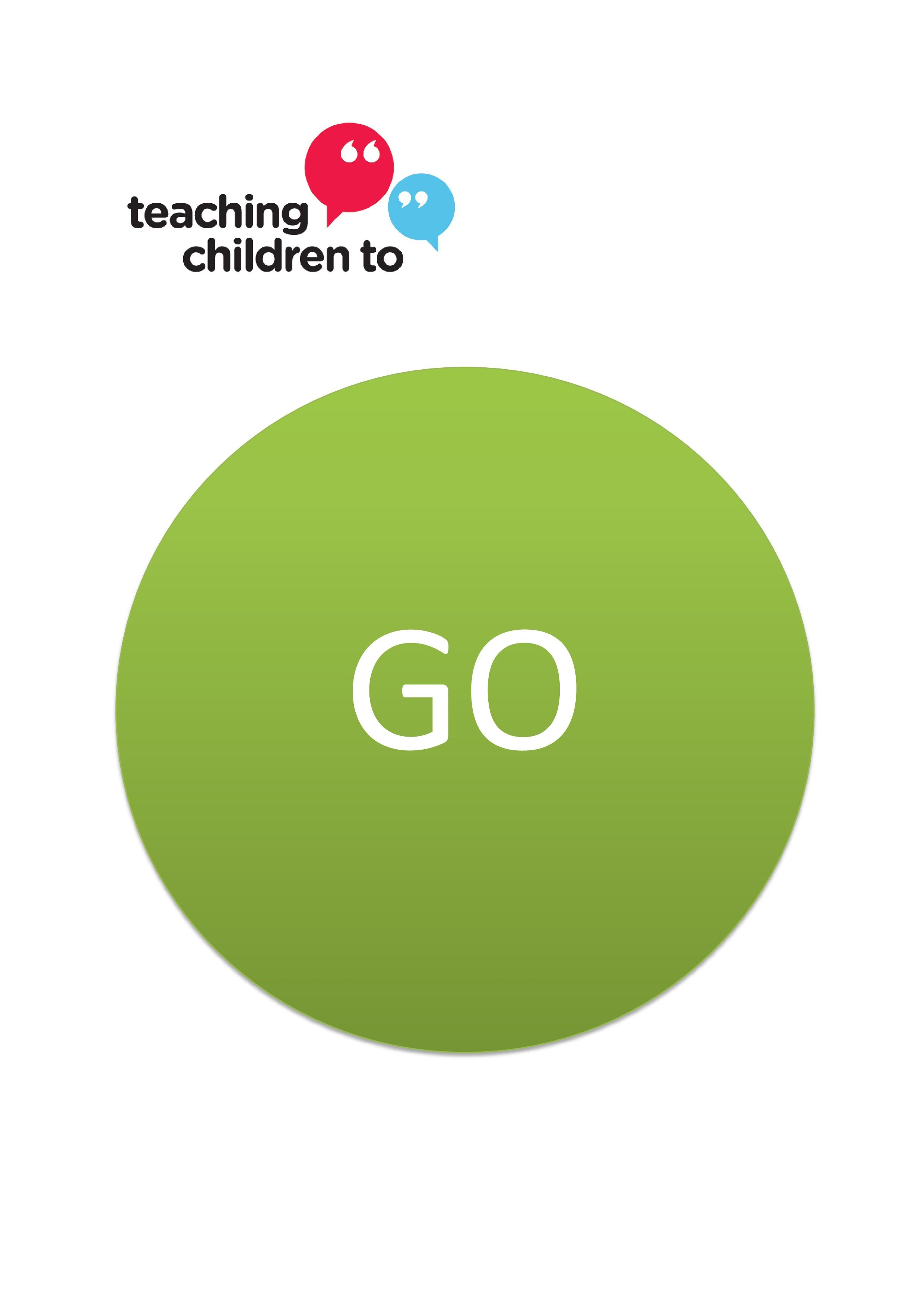 Stop And Go Signs To Help Children Learn To Wait