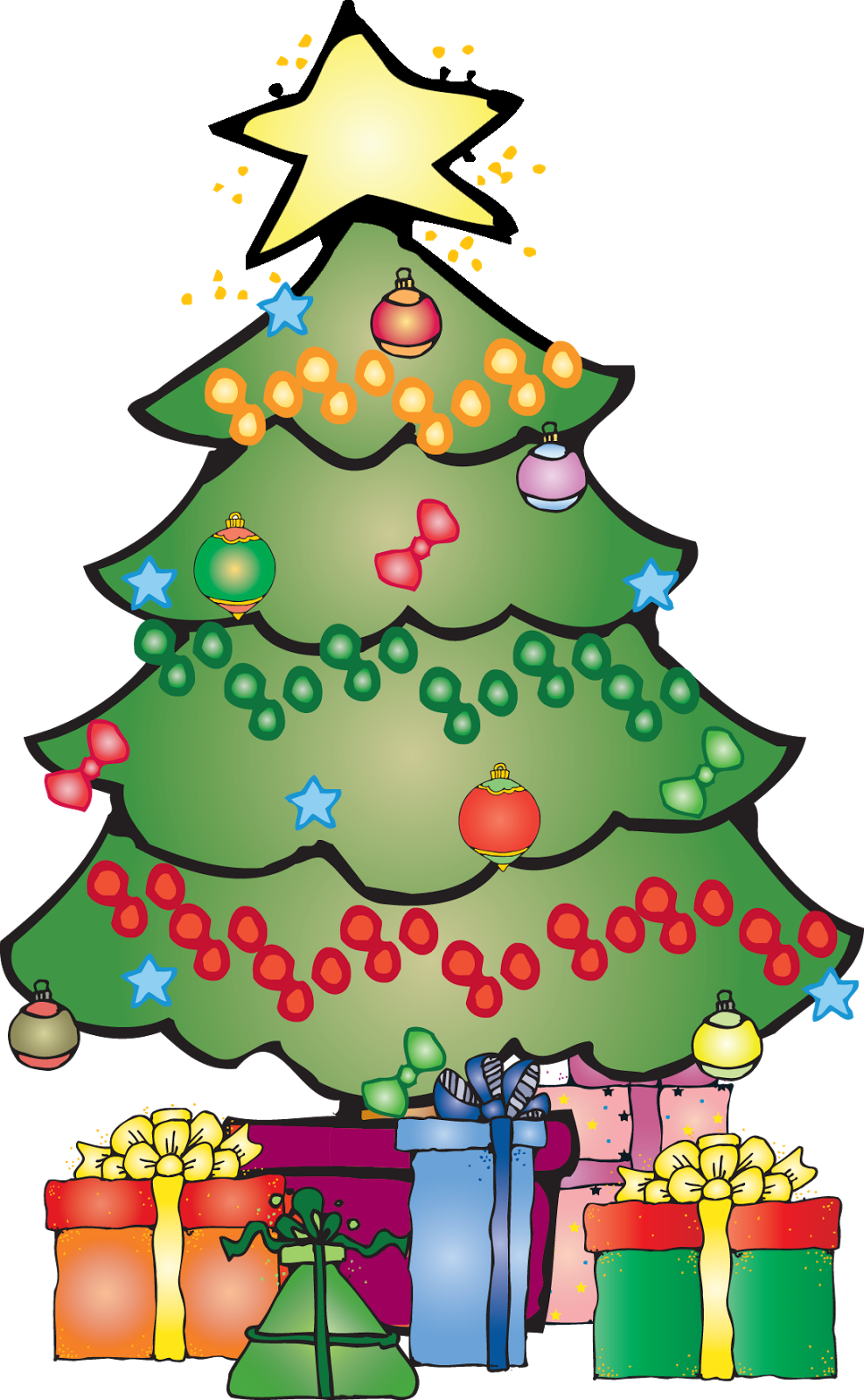 This cute Christmas wreath clip art is perfect for use on