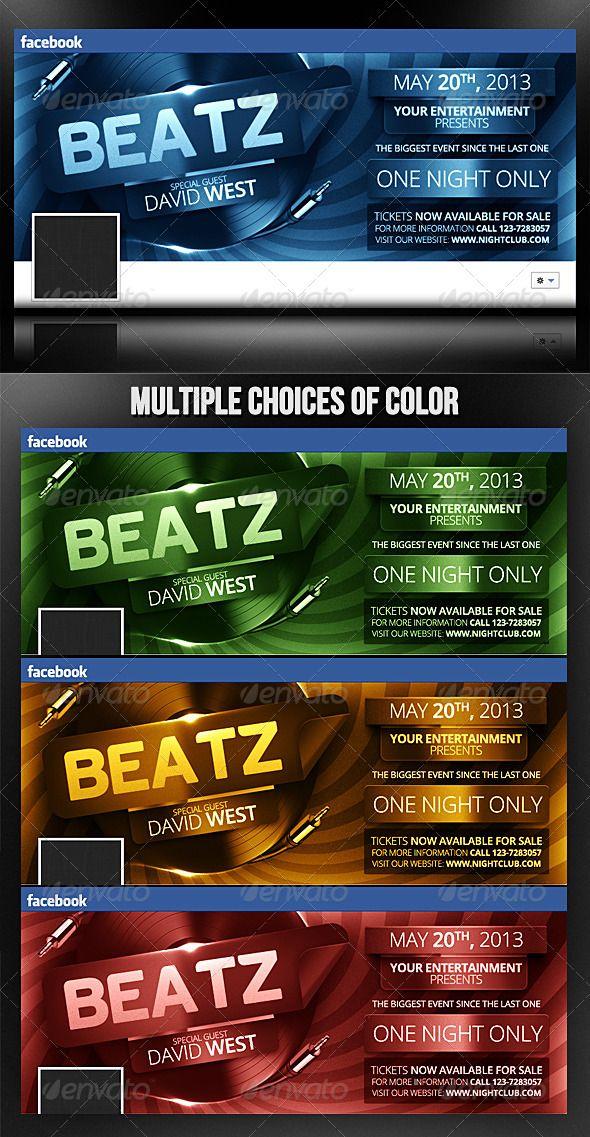 Beatz - Facebook Timeline Template Vinyls, Cleanses and Timeline - advertising timeline template