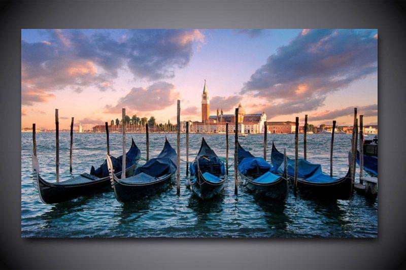 pas cher 1 panneau livraison gratuite venezia venise italie imprimer peinture sur toile wall art. Black Bedroom Furniture Sets. Home Design Ideas