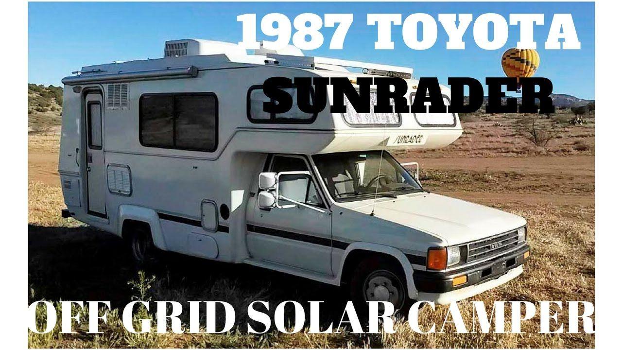 1987 Toyota Sunrader Camper Custom Solar Off Grid Setup By Ottoex Youtube Camper Toyota Van Life