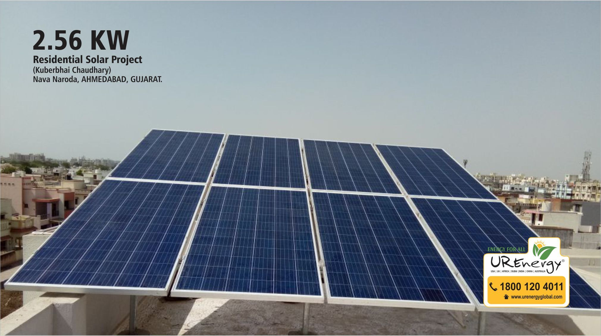 2 56 Kw Residential Solar Project Completed By U R Energy India Pvt Ltd At Ahmedabad Gujarat Gujarat S Number 1 Solar Residential Solar Solar Projects