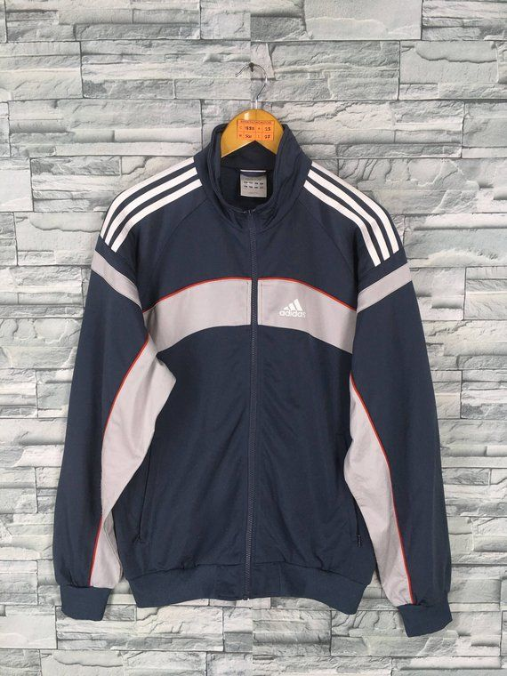 Adidas Sports Jacket Vintage 90s Adidas Jacket Tracksuit Top Zip Up Track Jacket Adidas Streetwear Sportswear . size S