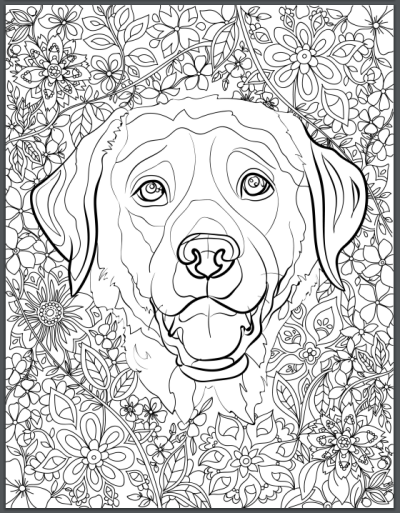 De Stress With Dogs Downloadable 10 Page Coloring Book For Adults Who Love Dogs Print Instantly Dog Coloring Book Dog Coloring Page Animal Coloring Pages