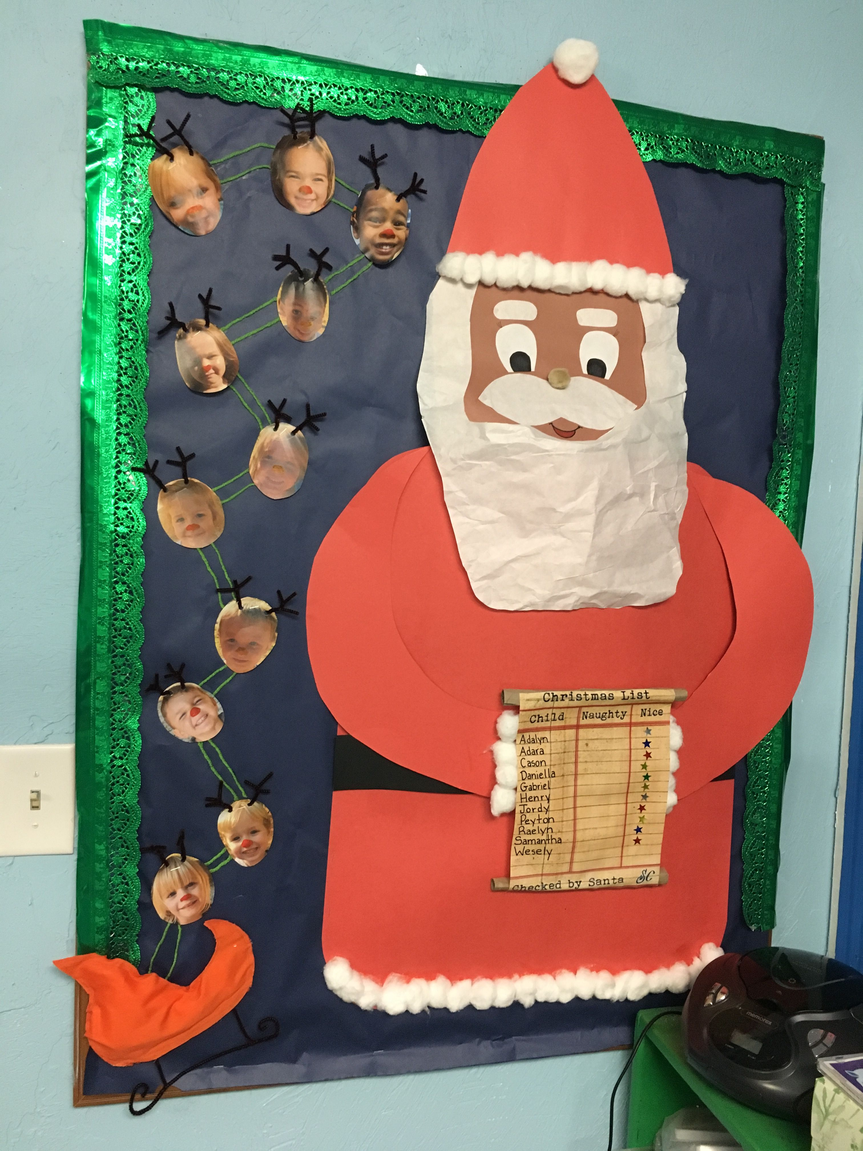 Christmas Bulletin Board Ideas Santa Clause Nice Naughty