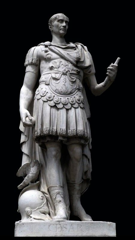 Emperor Statue Gaius Julius Caesar Roman Dictator Sculpture Bronze Finish