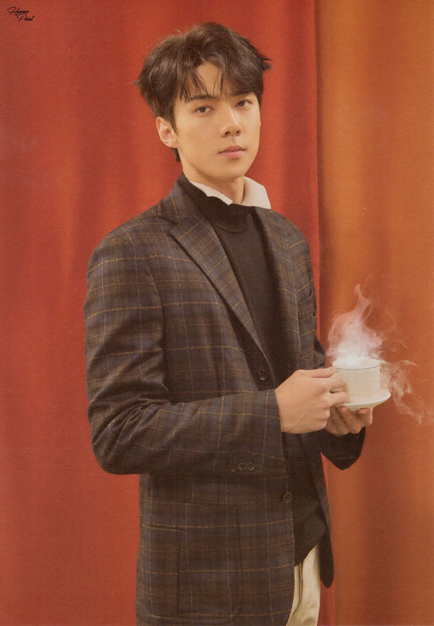 scan exo sehun universe album exo 2017 winter. Black Bedroom Furniture Sets. Home Design Ideas