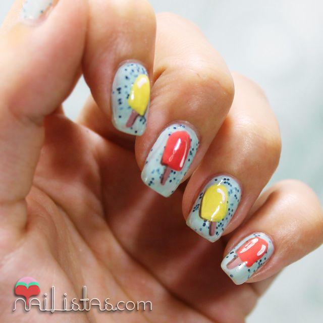 Ice cream nail art | Nailistas So cute! | Nails | Pinterest ...