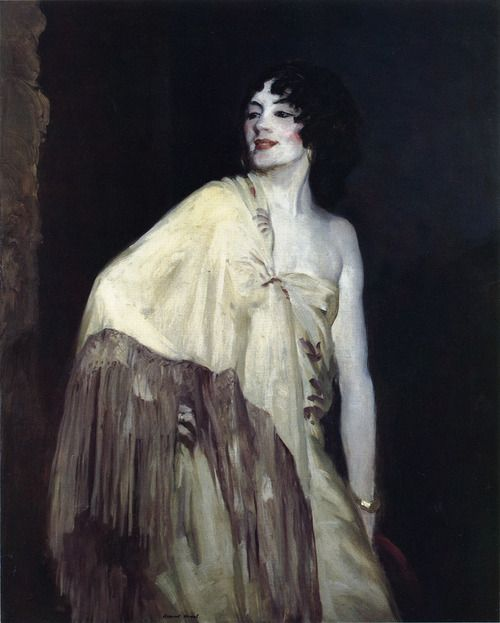 Robert Henri, Dancer in a Yellow Shawl, c. 1908
