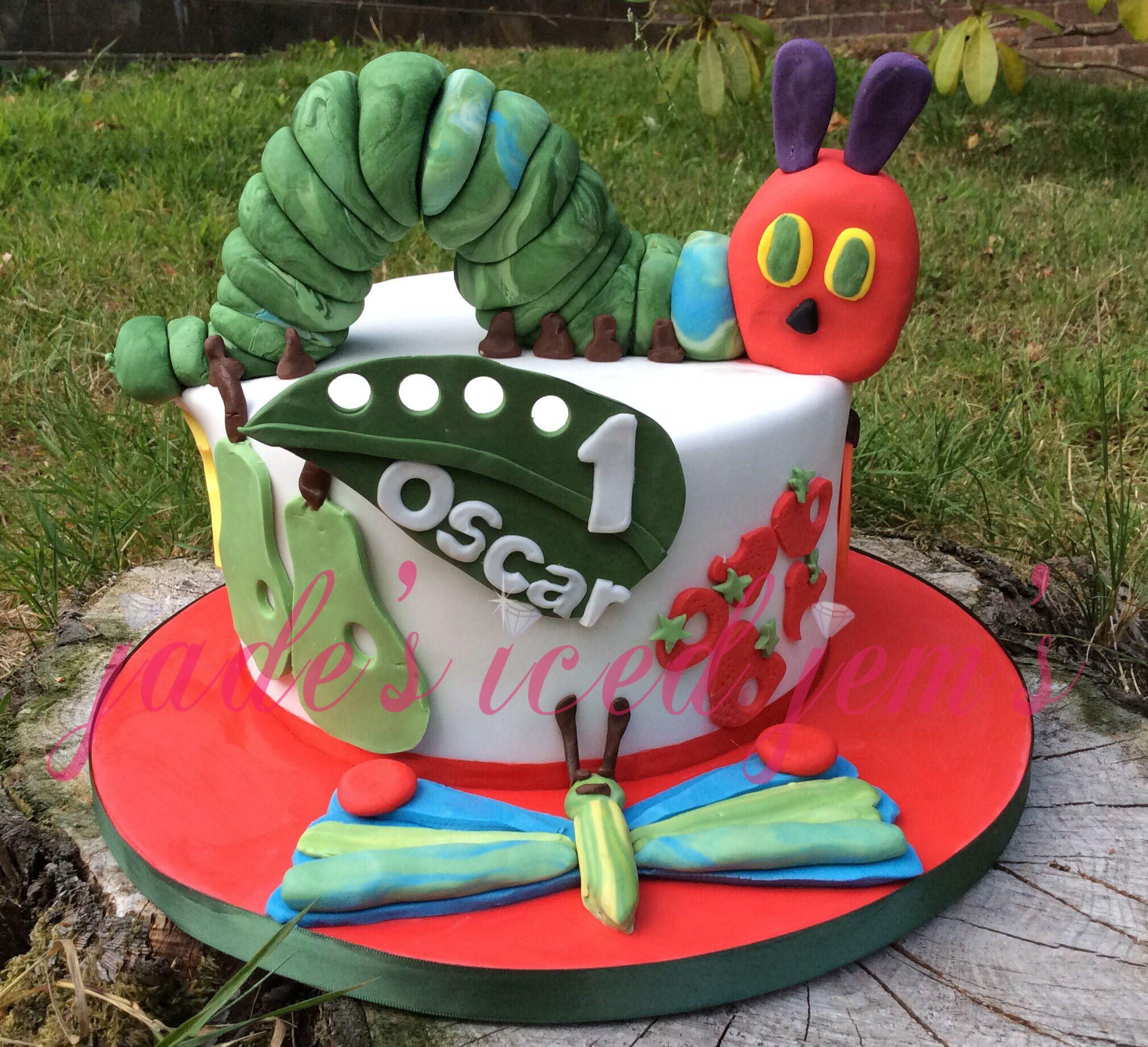 The very hungry caterpillar cake. 1st birthday cake