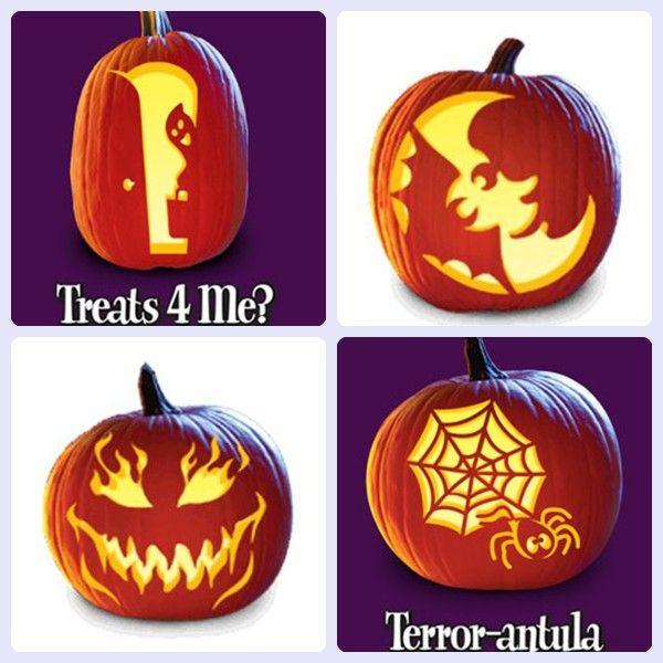 Plantillas gratis para decorar calabazas de halloween for Decoracion de calabazas para halloween