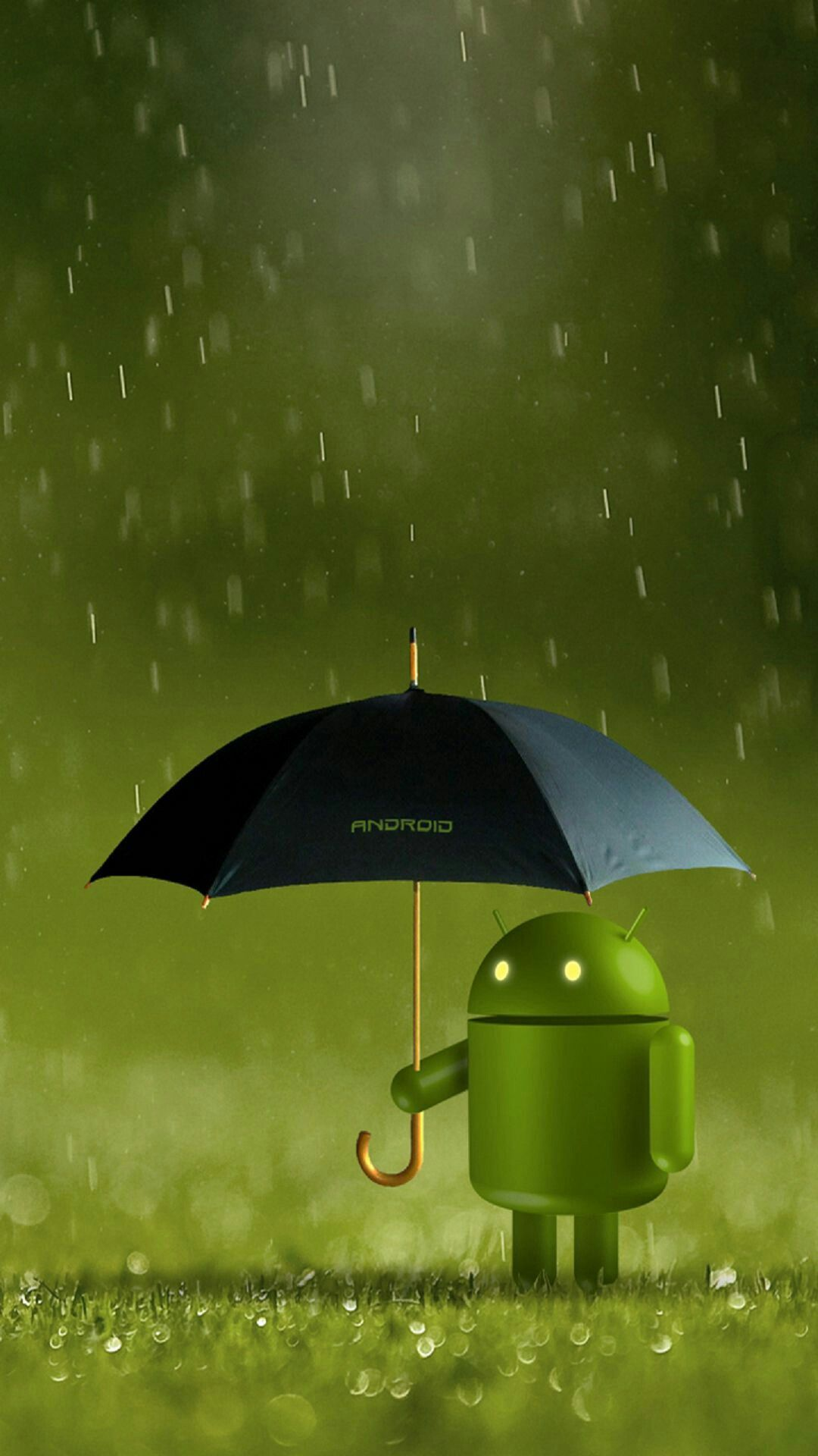 Android rainy day wallpaper Android security, Android