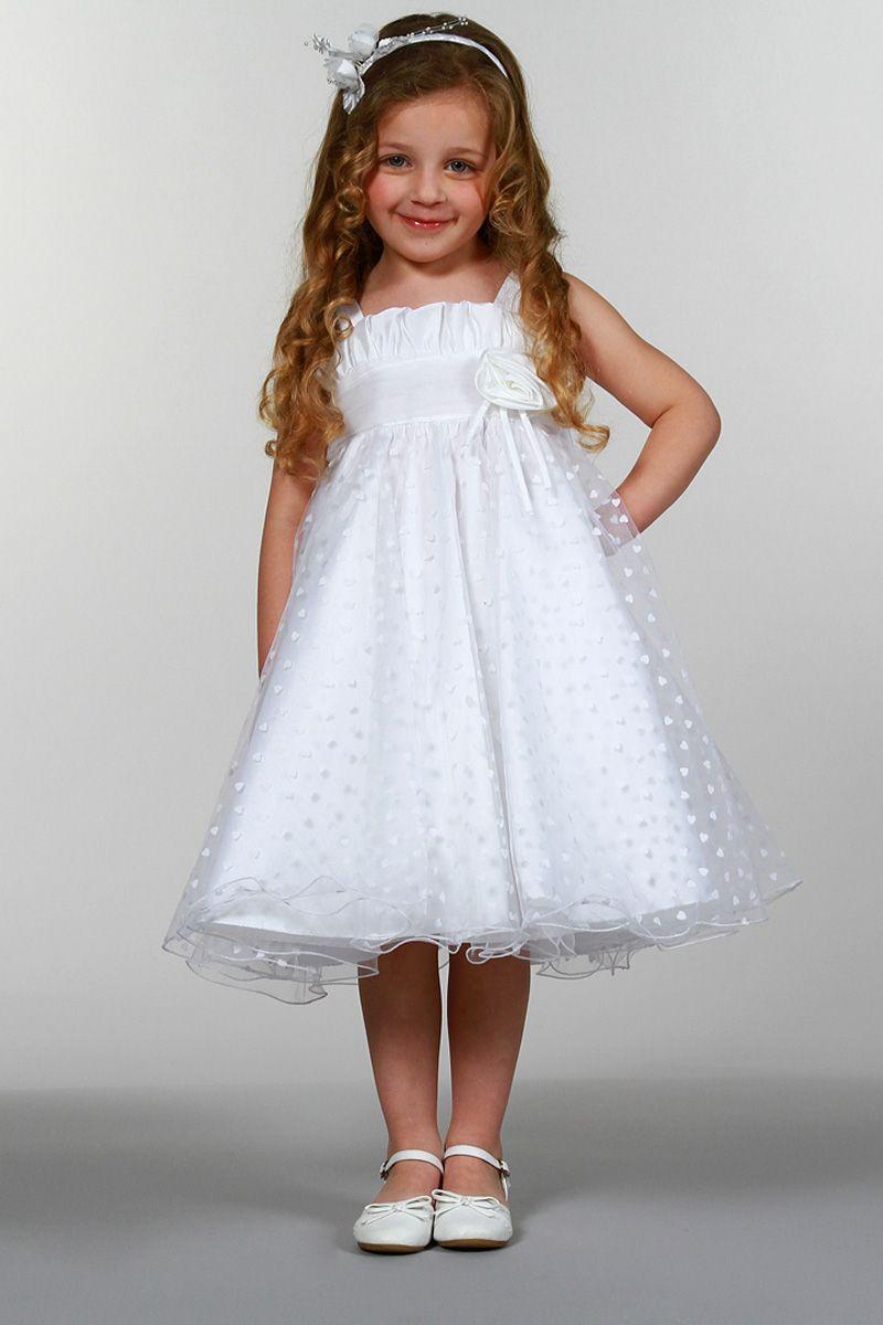 a716012f77b Robe en tulle floqué coeurs Blanc - Tati Robe Tati