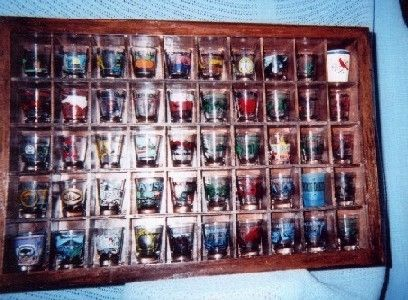 How To Build A Shot Glass Display Shelf Glass Display Shelves Glass Display Case Shot Glass Holder