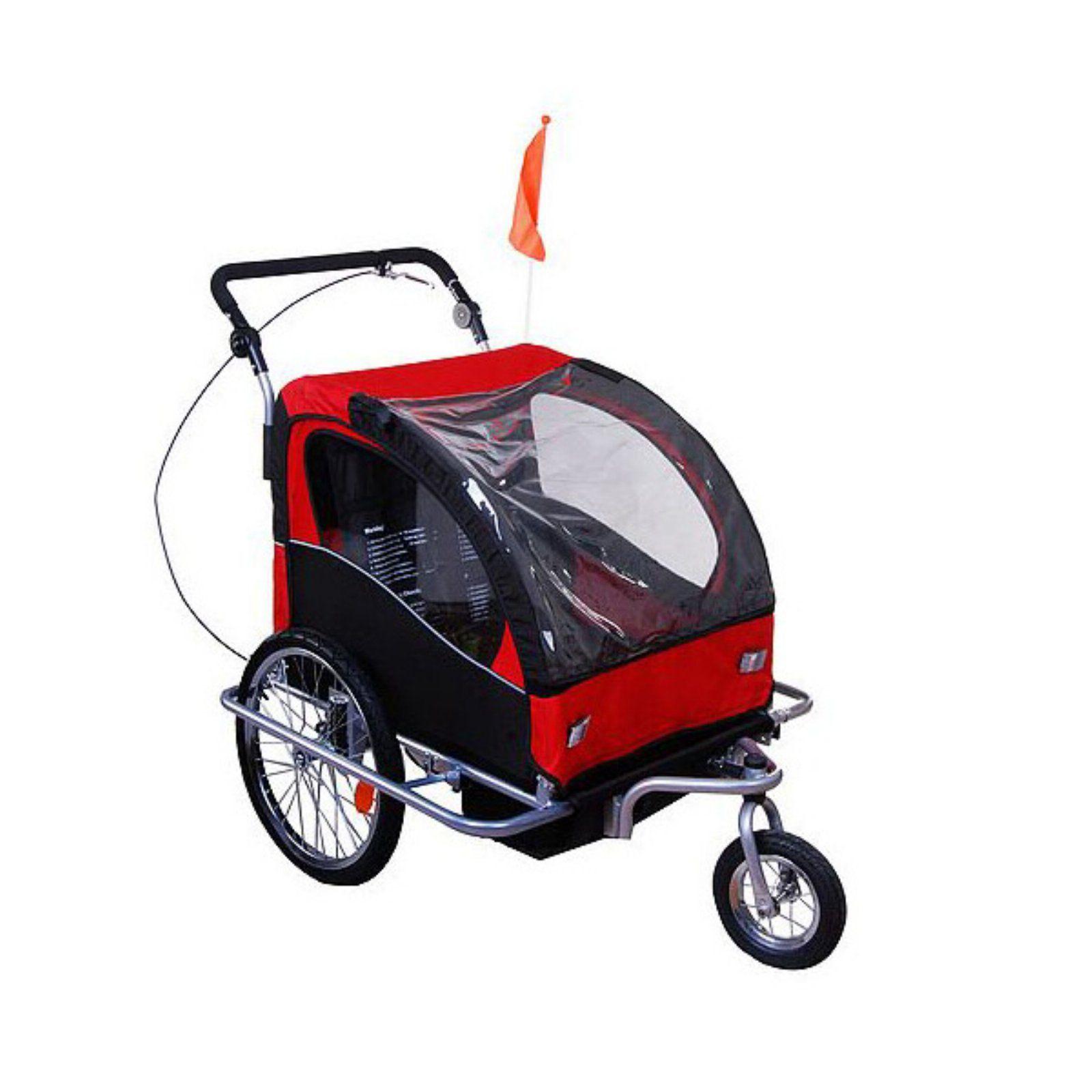 Aosom Elite II Bike Trailer Red/Black Baby bicycle