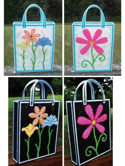 Free Plastic Canvas Purse Patterns | ... Floral Totes Plastic ...