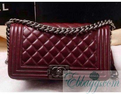 d216df33142777 Chanel A67086 Burgundy Le Boy Flap Shoulder Bag - 2014-01-03 - Daily New