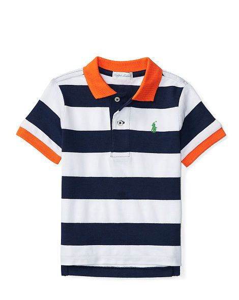 a4be1aed5 Striped Cotton Mesh Polo - Baby Boy Polo Tops   Bodysuits - RalphLauren.com