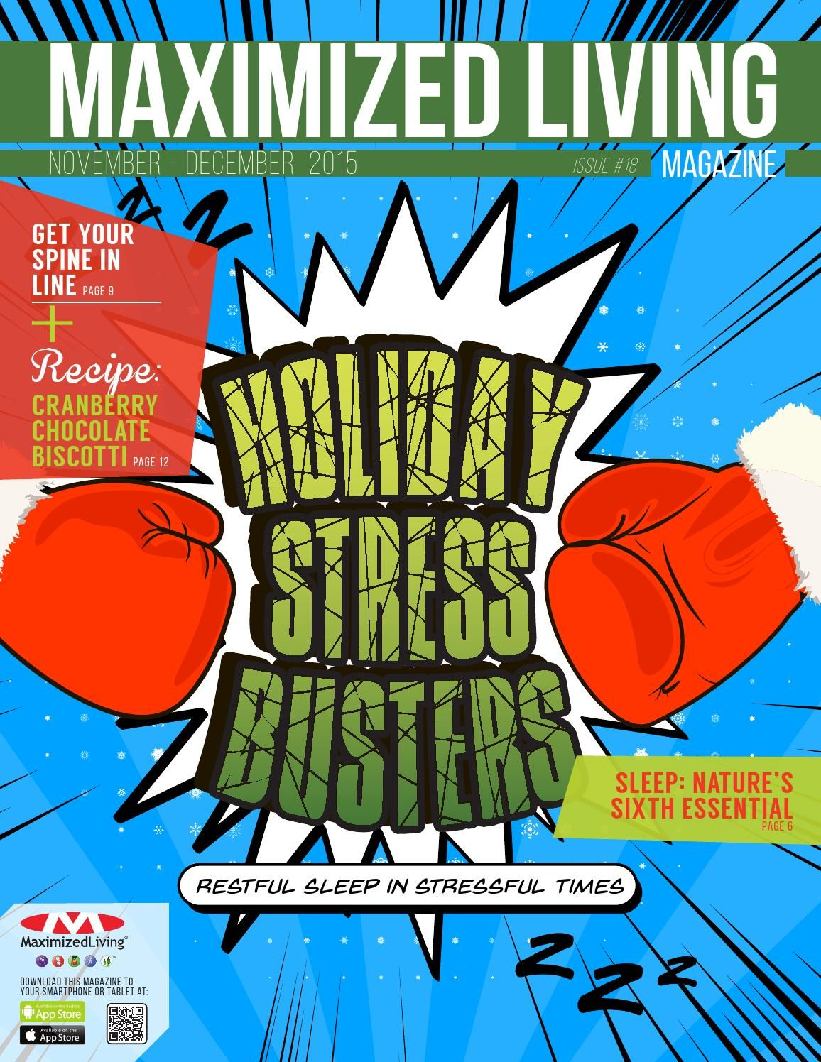 2015 Nov/Dec - Holiday Stress Busters - Maximized Living Magazine
