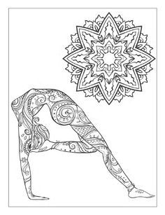 Yoga and meditation coloring book for adults: With Yoga Poses and ...