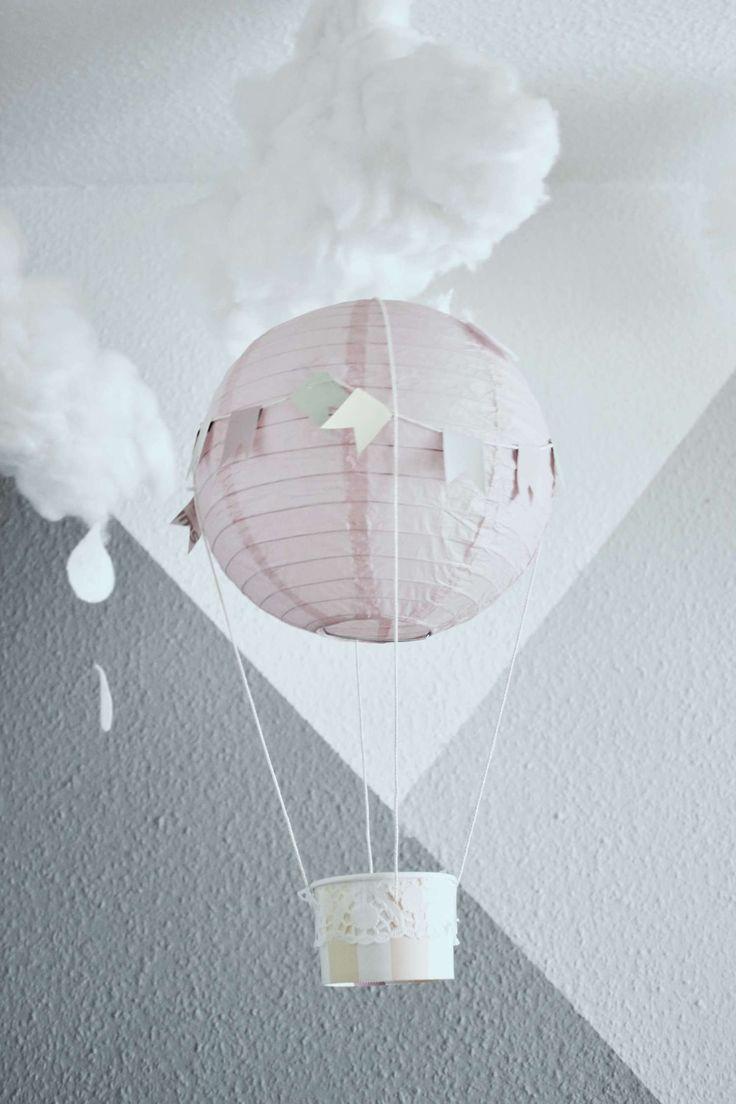 DIYDekoIdee ° Heißluftballons für das Kinderzimmer