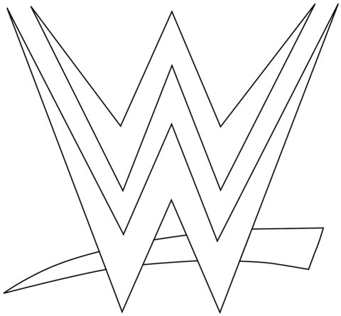 Wwe Logo Coloring Page From Wwe Category Select From 24652 Printable Crafts Of Cartoons Nature Animals Bible And Many Wwe Coloring Pages Wwe Logo Wwe Party
