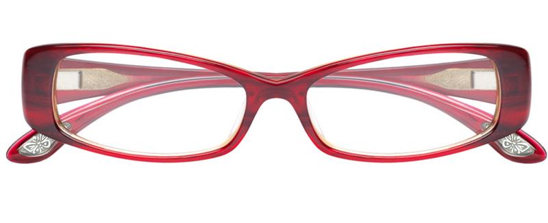 6d79337c58 Modèle de lunettes de vue pour femme Paul and Joe ENVOL 22 de couleur rouge.