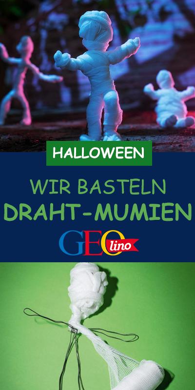 Draht-Mumien #halloweendekobasteln