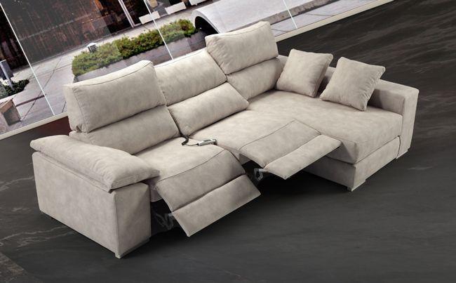Sofa Chaiselong Reclinable Relax Sofa Tapizado En Tela For The